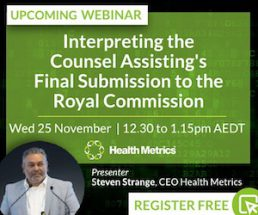 Free Webinar:  Interpreting the Counsel Assisting's Final Submission to the Royal Commission @ Online Webinar